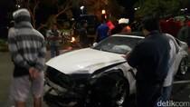 Mobil Ferrari Ringsek Ditabrak BMW di Tangerang Selatan