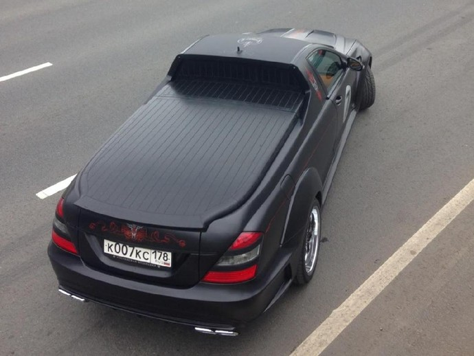 Mercedes-Benz S-Class Ini Dipotong Jadi Pikap