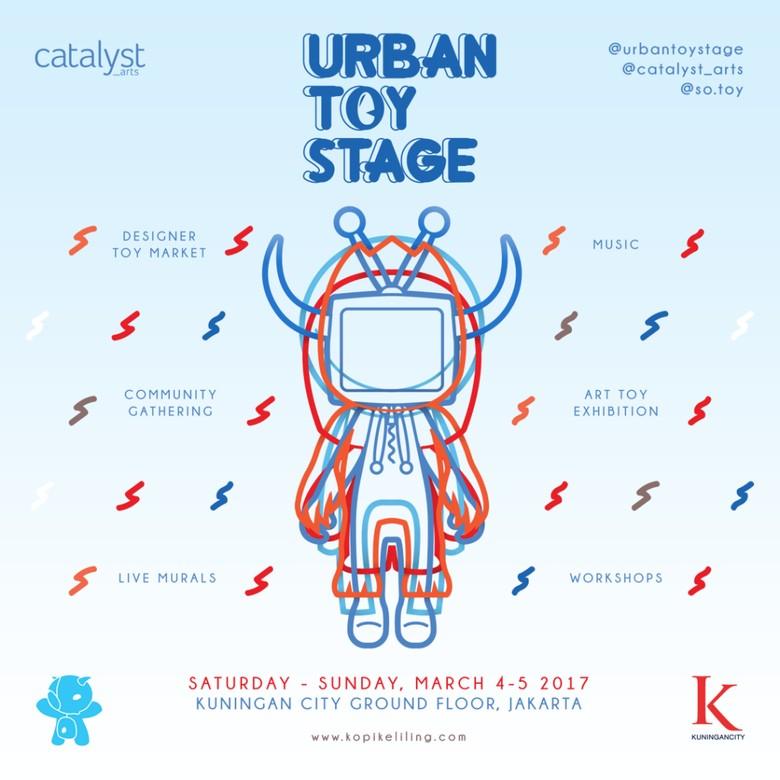 45 Seniman Visual dari 7 Kota Ikuti Urban Toy Stage 2017