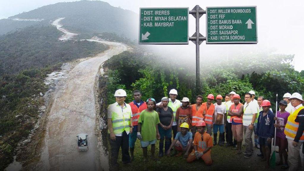 Sehari Menjajal Jalan Trans Papua yang Menembus Gunung