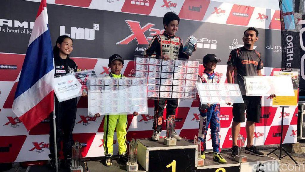 Pegokart Muda Indonesia Naik Podium di Malaysia