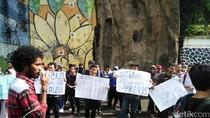 Kedatangan Menteri ESDM di Kampus UMM Disambut Demo Mahasiswa