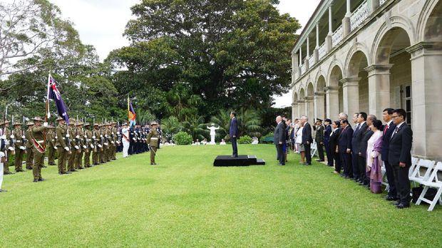 Momen Upacara Kenegaraan Jokowi di Australia