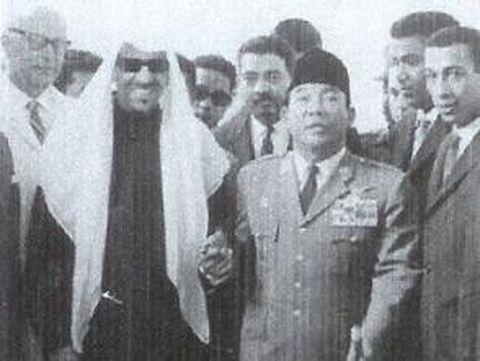 Sukarno dan Raja Saud.