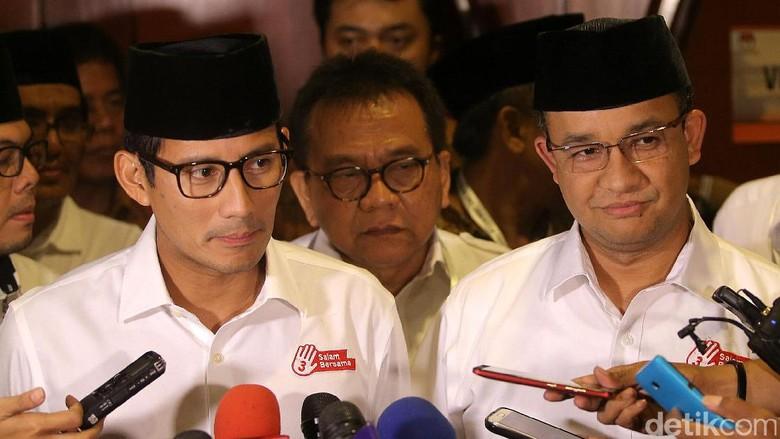 Pesan Anies-Sandi Sebulan Jelang Pencoblosan: Jakarta akan Bersatu