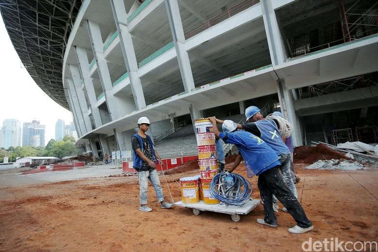 Masih Direnovasi, Begini Penampakan Terkini Stadion GBK