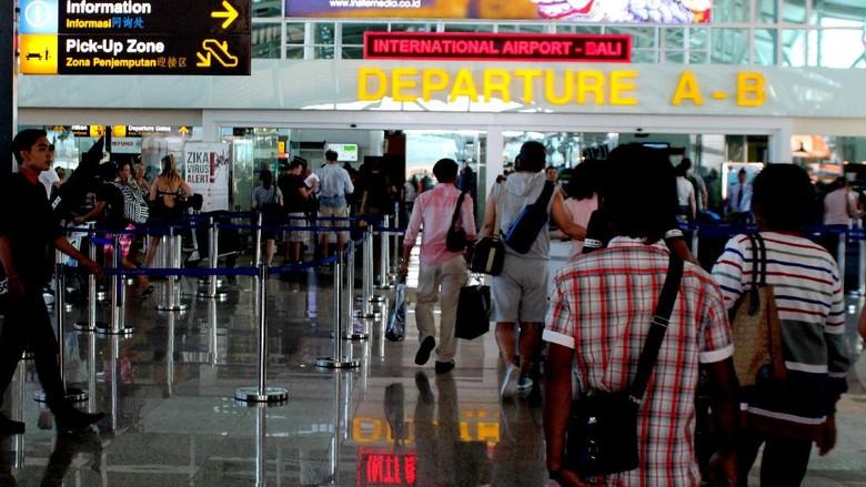 Suasana di Bandara Ngurah Rai Baliu (David Saud/detikTravel)