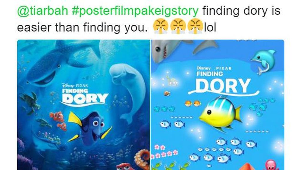 Unik! Yuk, Bikin Poster Film dari Emoji