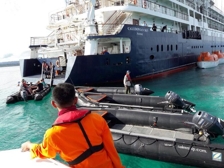 RI & Bahama Investigasi Kandasnya Caledonian Sky di Raja Ampat