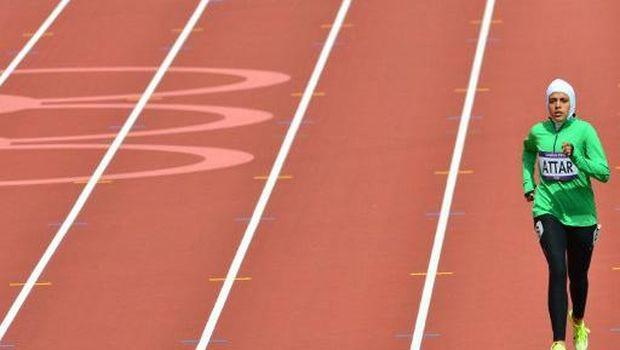 Sarah Attar, atlet berhijab dari Arab Saudi pada Olimpiade 2012 London