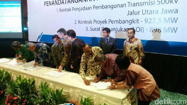 PLN teken kontrak proyek listrik Rp 21 triliun