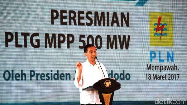 Jokowi: Ketersediaan Listrik Percepat Pertumbuhan Ekonomi RI