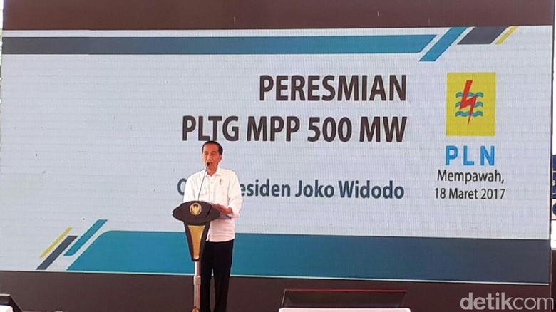 Resmikan 8 Pembangkit Listrik, Jokowi: Alhamdulillah Selesai