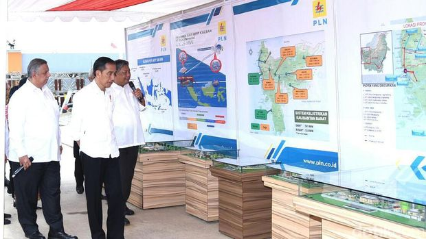 Presiden Jokowi resmikan 8 pembangkit listrik