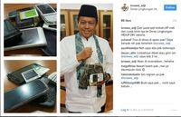 Screenshot instagram Kadis Lingkungan Hidup DKI @isnawa_adji