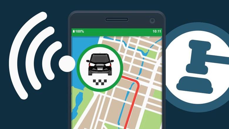 Pengemudi Taksi Online Mau Dipasang Stiker Asal Keamanan Terjamin