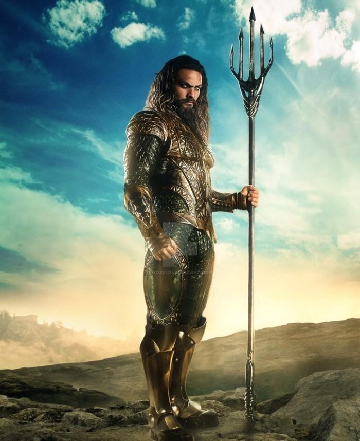 Salah satu jagoan yang muncul mendampingi Batman dan Superman dalam film Justice League adalah Aquaman. Foto: imdb