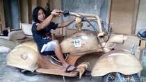 Vespa Kayu Made in Ngawi Ini Sempat Ditawar Bule Puluhan Juta