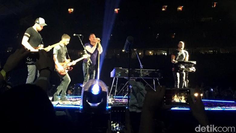 Foto: Konser Coldplay di Singapura (Pool/Arum Kinanti)