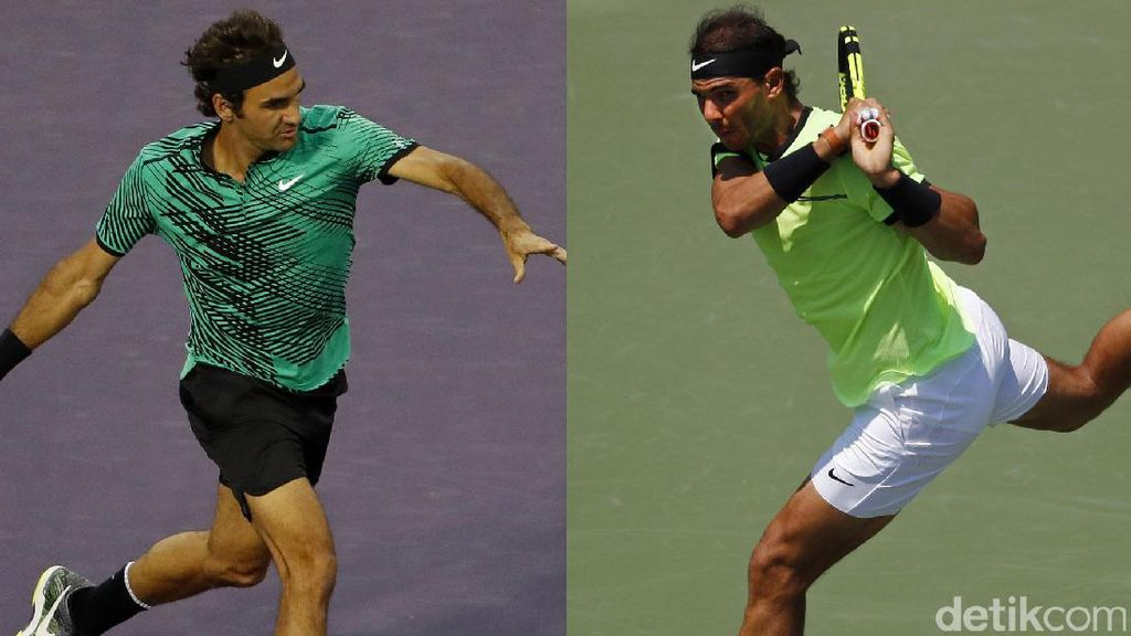 Federer Tantang Nadal di Final Miami Terbuka