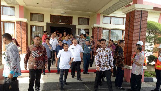 JK tiba di Palembang.