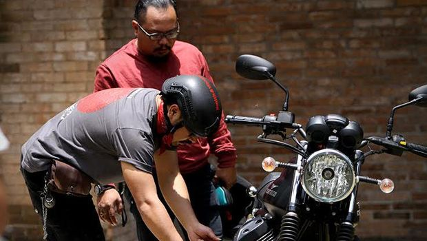 Motor Modifikasi Iconic Bike Suryanation Siap Bersolek