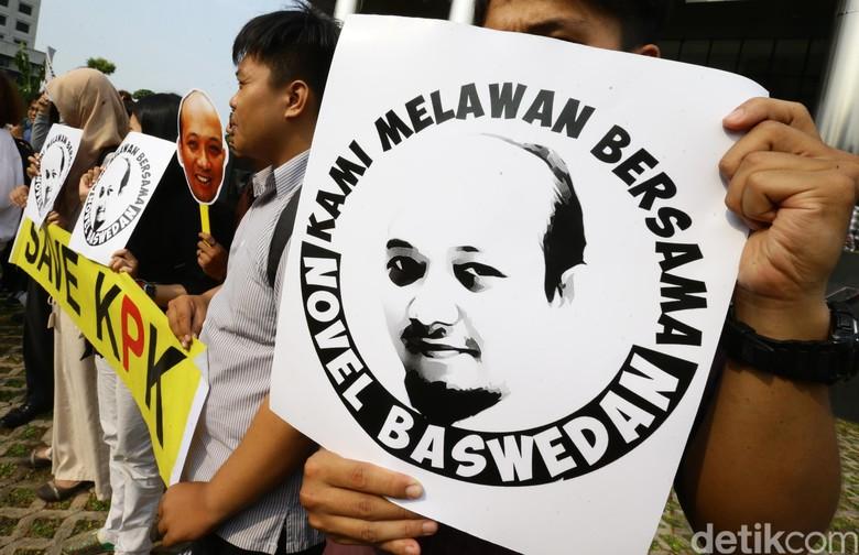 10 Hari Teror Novel Belum Terungkap, KPK Diminta Tak Hanya Diam