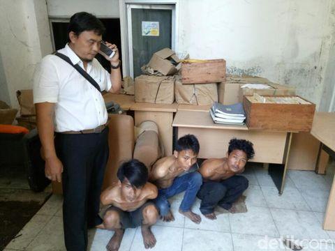 Curi Kabel Simulator Pesawat, Tiga Pemuda Ditangkap