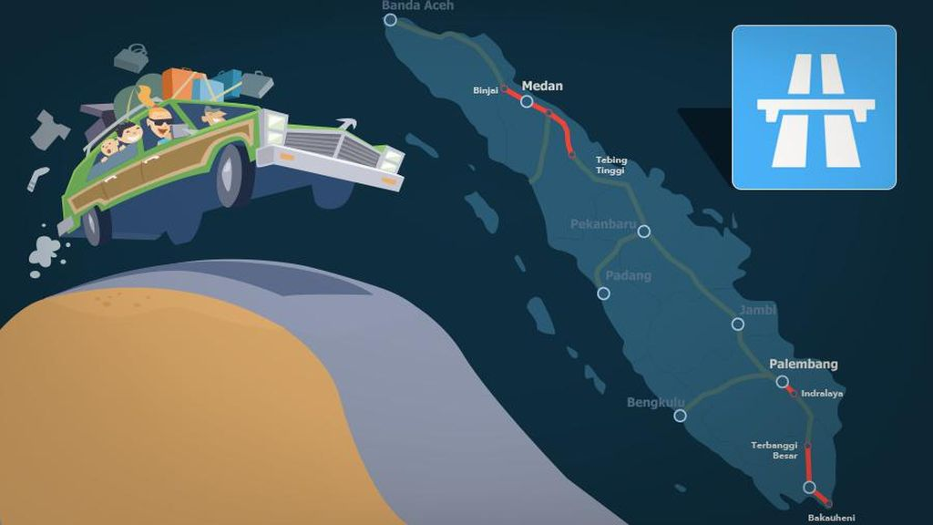 Ini Ruas Tol Trans Sumatera yang Diresmikan Jokowi