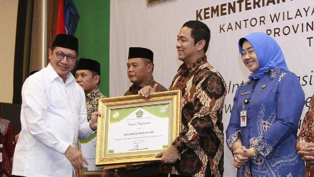 Jaga Keberagaman, Wali Kota Semarang Raih Penghargaan dari Kemenag