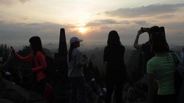 Sunrise di Candi Borobudur (Johanes Randy/detikTravel)