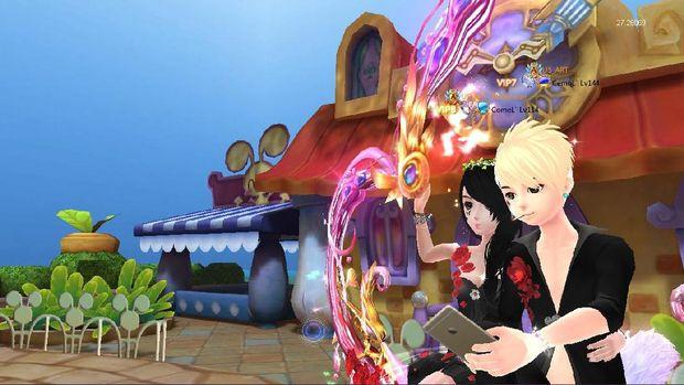 Karakter Riyan dan Putri di dalam game.