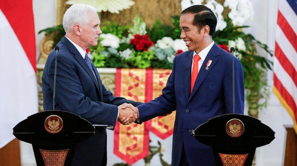 Wapres AS Bawa Pesan Donald Trump untuk Jokowi, Apa Isinya?