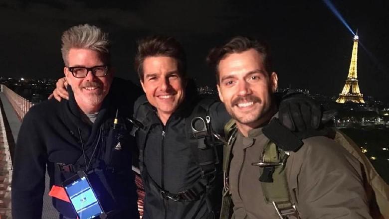 Penampakan Henry Cavill Syuting Mission Impossible