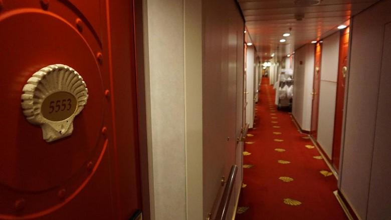 Deretan kabin di dalam kapal pesiar dek 5 (Masaul/detikTravel)