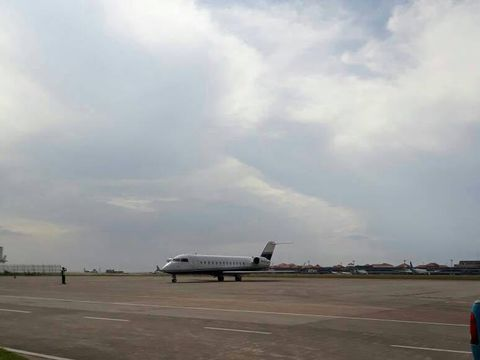 Penampakan pesawat jet milik Novanto