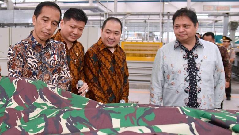 Jokowi: Tekstil RI Tidak Kalah dari Vietnam