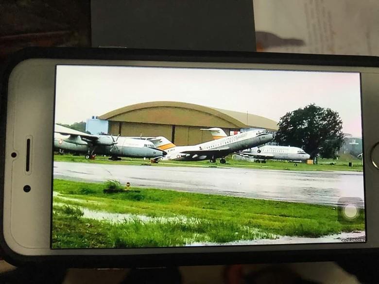 Diterjang Puting Beliung, Pesawat di Halim Ngetril