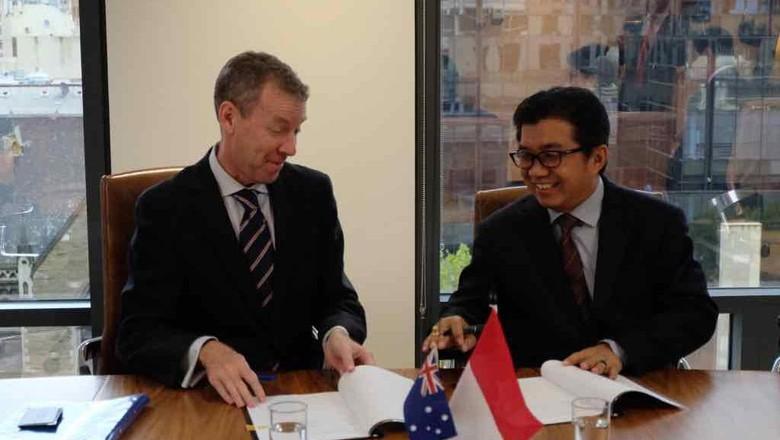 Kembangkan Fintech, OJK Jalin Kerja Sama dengan Komisi Investasi Australia