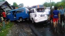 Polisi Tetapkan Sopir Bus Maut di Puncak Sebagai Tersangka