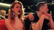 Ciuman Maut Amber Heard untuk Sang Miliuner Elon Musk