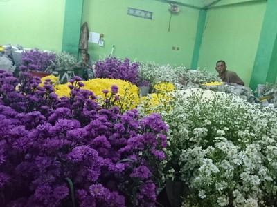 Warna-warni Bunga Bagi Kesayangan dari Pasar Rawa Belong