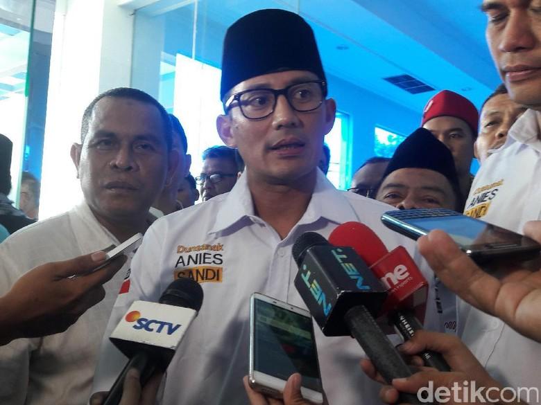 Sandiaga Targetkan Jakarta Raih Predikat WTP pada 2018