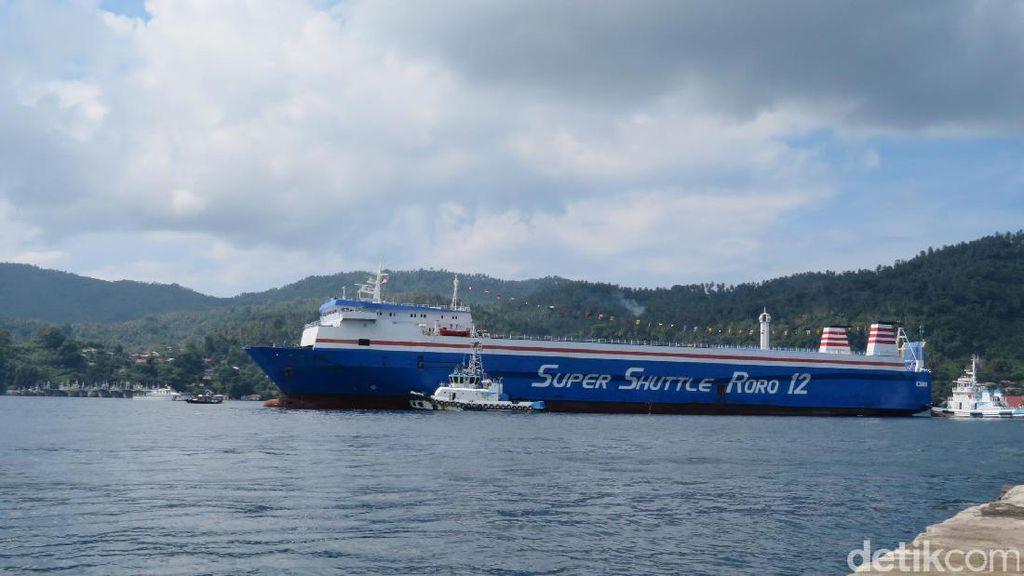 Dilepas Jokowi dan Duterte, Kapal Ro-Ro Filipina Tiba di Bitung
