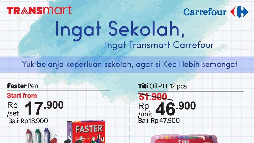 Transmart Carrefour Tawarkan Diskon Alat Tulis di Hari Pendidikan