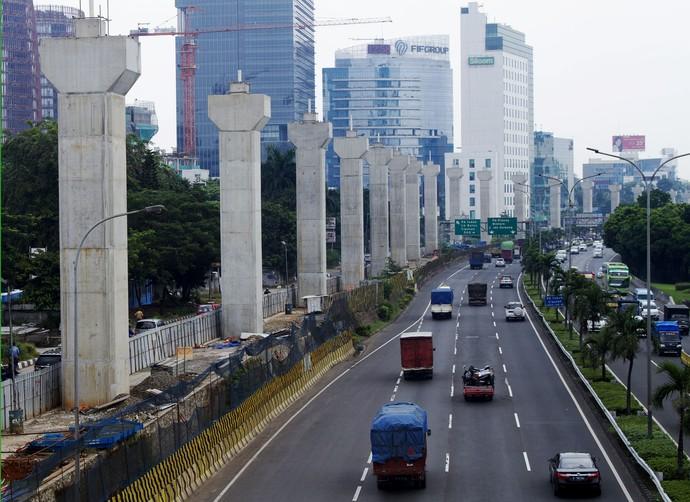 Penampakan Terkini Proyek MRT di Simatupang