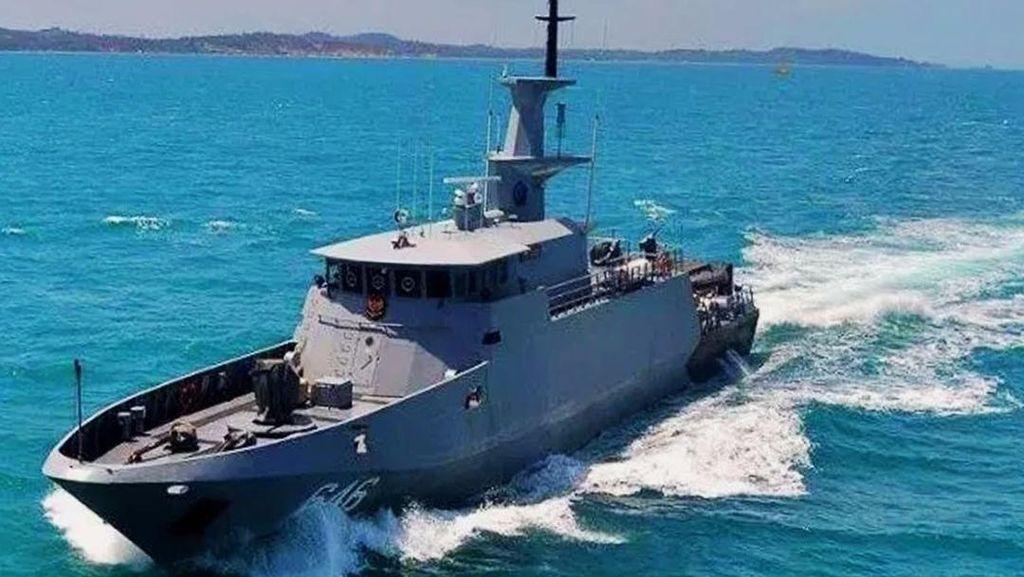 Tim Patroli KRI Temukan Yacht Singapura yang Sempat Hilang