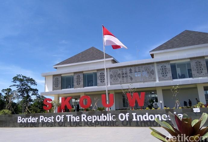 Melihat Kemegahan PLBN Skouw, Batas Indonesia-Papua Nugini