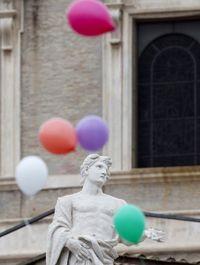 Pelepasan balon di Vatikan pada 2015 lalu.