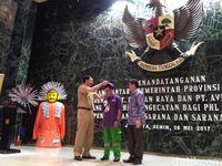 Acara simbolik peresmian kerja sama untuk sertifikasi pasukan oranye dkk